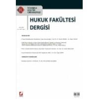 İstanbul Kültür Üniversitesi Hukuk Fakültesi Dergisi Cilt:7 – Sayı:1 Ocak 2008